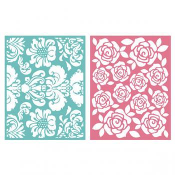 Placa de Textura - LC Embossing Folder Floral  - Minas Midias