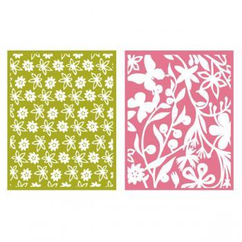 Placa de Textura - LC Embossing Folder Floret  - Minas Midias