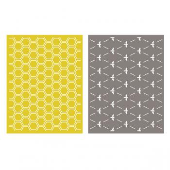 Placa de Textura - LC Embossing Folder Honeycomb  - Minas Midias
