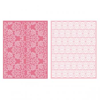 Placa de Textura - LC Embossing Folder Lace  - Minas Midias