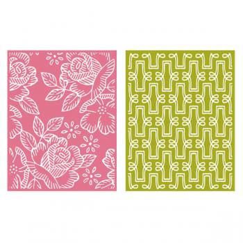Placa de Textura - LC Embossing Folder Tea Party  - Minas Midias