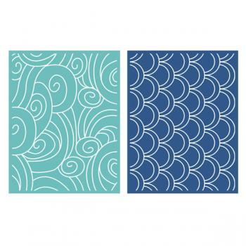 Placa de Textura - LC Embossing Folder Tide  - Minas Midias