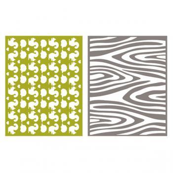 Placa de Textura - LC Embossing Folder Wdland  - Minas Midias