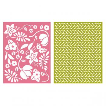 Placa de Textura - LC Embossing Folder Wildflower  - Minas Midias