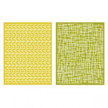 Placa de Textura - LC Embossing Folder Woven  - Minas Midias