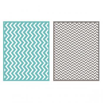 Placa de Textura - LC Embossing Folder ZigZag  - Minas Midias
