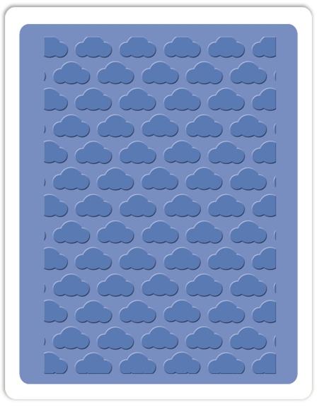 Placa de Textura - Embossing Folder - Nuvem  - Minas Midias
