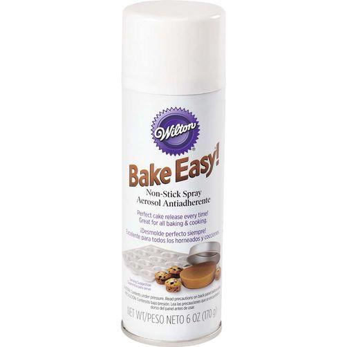 Spray antiaderente Bake Easy para untar formas 170g  - Minas Midias