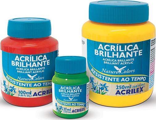 Tinta Acrílica Brilhante 37ml Acrilex  - Minas Midias