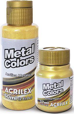 Tinta Acrílica Metal Colors 60ml Acrilex  - Minas Midias