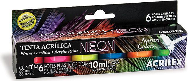 Tinta Acrílica Neon Acrilex   - Minas Midias