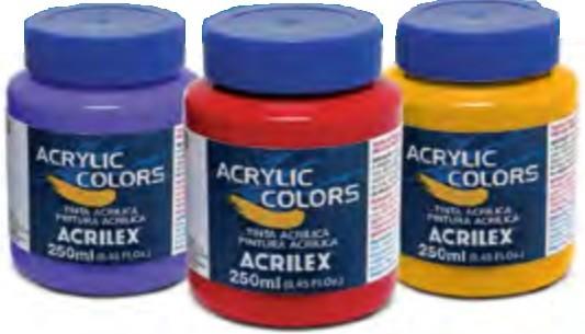 Tinta Acrylic Colors Acrilex 250ml  - Minas Midias