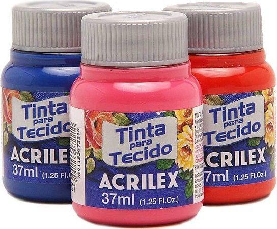 Tinta para Tecido Fosca 35ml Acrilex  - Minas Midias