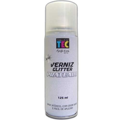 Verniz Spray Glitter Prateado 125ml  - Minas Midias