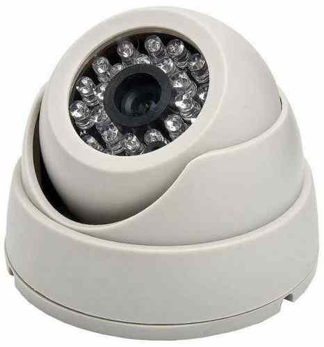 Câmera Dome 24 leds colorida com infravermelho 20 metros analógica 1000 linhas  - Tudoseg Cftv - Sistemas de Segurança Eletrônica