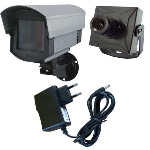 Kit Micro Câmera de Segurança + Caixa de Proteção + Fonte de Alimentação  - Tudoseg Cftv - Sistemas de Segurança Eletrônica