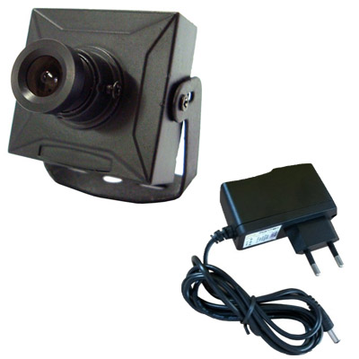 Micro câmera de segurança digital 420 linhas 0,1 lux day night- Fonte Grátis  - Tudoseg Cftv - Sistemas de Segurança Eletrônica