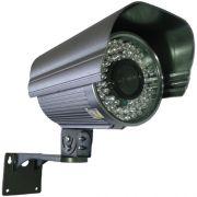 Câmera de Vigilância com Infravermelho 60 metros ccd Sony 720 linhas 1/3 lente 8mm- Alta definição