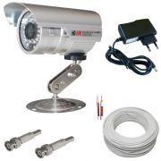 Kit Vigilância 1 Câmera infravermelho 1.000 linhas 36 leds- Completo