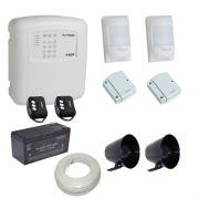 Kit alarme residencial / comercial com discadora telefônica e 4 sensores sem fio- ECP