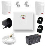 Kit de Alarme Residencial / Comercial com 2 Sensores de presença sem fio e discadora telefônica- JFL