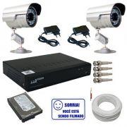 Kit 2 Câmeras Segurança Infravermelho Dvr Stand Alone Luxvision Acesso Nuvem P2P