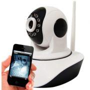 Câmera IP HD 1.3 Megapixel 720P Wi-Fi Infravermelho e Movimentação - Acesso Celular