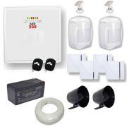 Kit de Alarme JFL 1 Central ASD 200 com 2 Zonas Mistas Inteligentes + Sensores Magnéticos e Presença