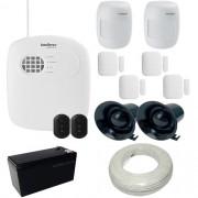 Kit Intelbras 1 Central de Alarme AMT 2008 RF com Discadora + 6 Sensores sem fio