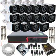 Kit 16 câmeras infravermelho 30 metros AHD 1.3 Megapixel + Dvr Stand Alone- Acesso imagens pela Internet