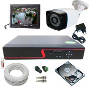 Kit 1 Câmera de Segurança Anko AHD 1.3 Megapixel 30 Metros DVR 4 Canais Acesso P2p + Monitor