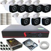 Kit 8 Câmeras de Segurança Anko Digitais 1.3 Megapixel 30 Metros DVR 8 Canais Acesso Via Celular