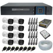 Kit 8 Câmeras de Segurança Intelbras 1010B 1 Megapixel Multi HD + DVR Stand Alone Anko 8 Canais