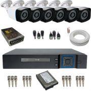 Kit Cftv 6 Câmeras de Segurança Anko 1.3 Megapixel 720p Digitais DVR Anko 8 Canais - Acesso Remoto