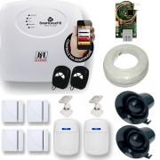 Kit de Alarme Residencial e Comercial 1 Central JFL Smart Cloud 18 Zonas + 6 Sensores JFL