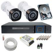 Kit de Monitoramento 2 Câmeras Intelbras 1010B 1 Megapixel 720p + DVR 4 Canais Acesso Remoto