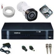 Kit Monitoramento Intelbras Câmera 1010B Infravemelho 1 Megapixel 720p + DVR MHDX 1004 Multi HD
