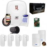 Kit Jfl Com 1 Central De Alarme Active 32 Zonas + 6 Sensores