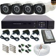 Sistema de Monitoramento com 4 Câmeras Full HD 2.0 Mp 1080p Gravador Dvr Multi HD 5 em 1