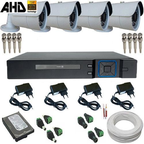 Kit 04 Câmeras Segurança 1.3 Megapixel Infravermelho 30 metros + DVR Stand Alone Multi HD   - Tudoseg Cftv - Sistemas de Segurança Eletrônica