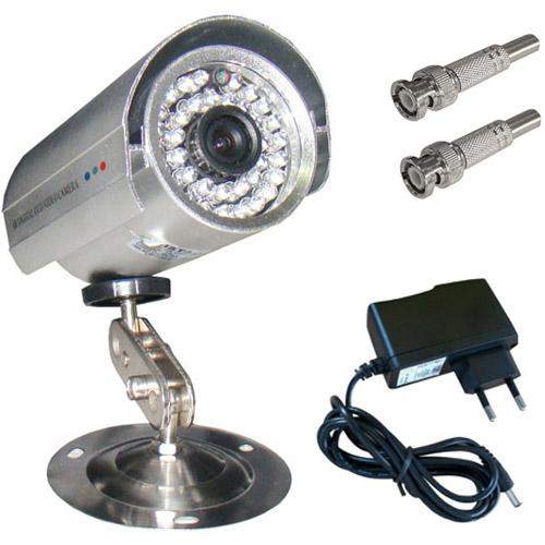 Câmera Infravermelho até 30 metros Analógica 1200 linhas 36 leds + Fonte + Bnc  - Tudoseg Cftv - Sistemas de Segurança Eletrônica