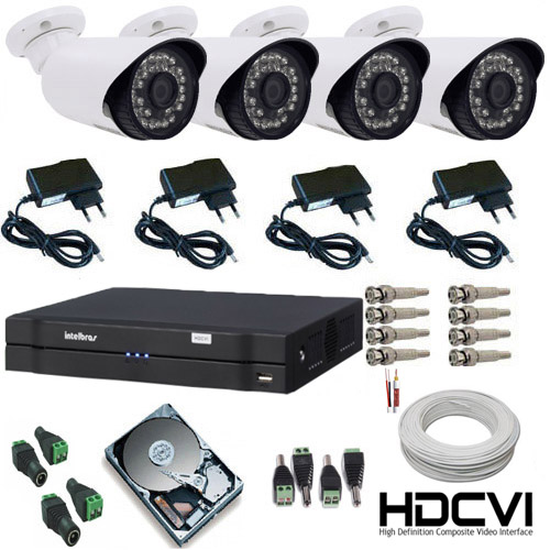 Sistema de vigil ncia completo com dvr intelbras para uso for Kit da garage stand alone