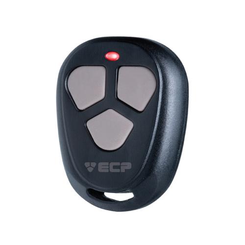 Controle remoto frequência 433.92mhz Preto 3 botões- ECP Fit  - Tudoseg Cftv - Sistemas de Segurança Eletrônica