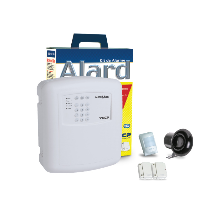 Kit Alarme com sensores sem fio e discadora telefonica ECP Alard Max1 - Iso 9001  - Tudoseg Cftv - Sistemas de Segurança Eletrônica