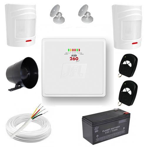 Kit de Alarme Residencial / Comercial com 2 Sensores de presença sem fio e discadora telefônica- JFL  - Tudoseg Cftv - Sistemas de Segurança Eletrônica