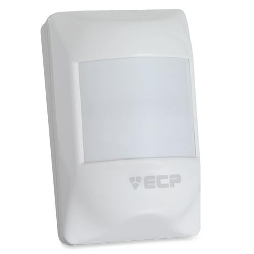 Sensor de presença infravermelho ECP Visory- Ligação por fio  - Tudoseg Cftv - Sistemas de Segurança Eletrônica