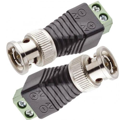 Conector Plug BNC Macho com Borne  - Tudoseg Cftv - Sistemas de Segurança Eletrônica