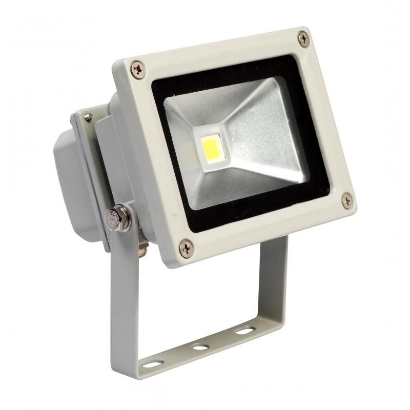 Refletor de Led Branco Frio 10W Bivolt  - Tudoseg Cftv - Sistemas de Segurança Eletrônica