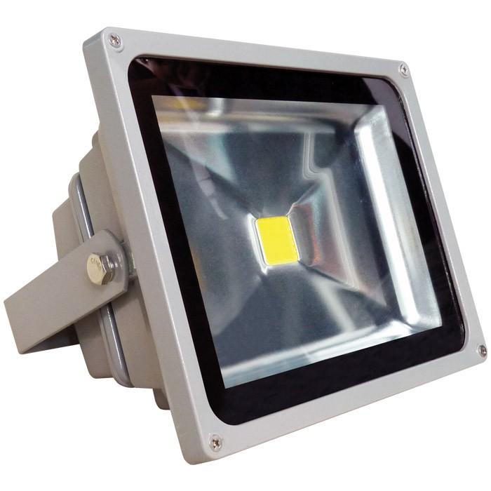 Refletor de Led Branco Frio 30W Bivolt Prova Dagua  - Tudoseg Cftv - Sistemas de Segurança Eletrônica