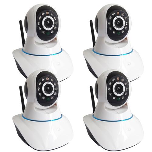 Kit de Monitoramento com 4 Câmeras IP com resolução HD 1.3 Megapixel 11 Leds Infravermelho  - Tudoseg Cftv - Sistemas de Segurança Eletrônica